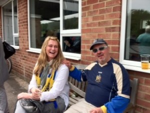 Lena, Pepsico's wife and my play-off transport companion and the brilliant whiskey sharing, lift-giving DavyMac