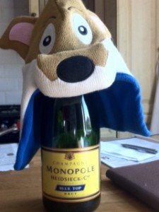 Celebration essentials: Champagne and a Filbert Fox hat