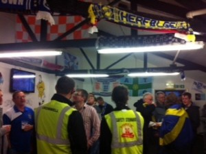 An away fans bar in the ground - paradise