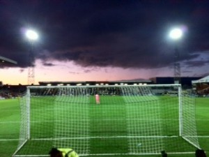 At the final whistle it's gone a bit Mordor....