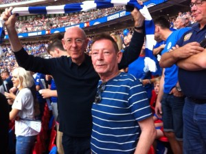Mike and Mr TLF on our grand day out at Wemberlee, August 2015